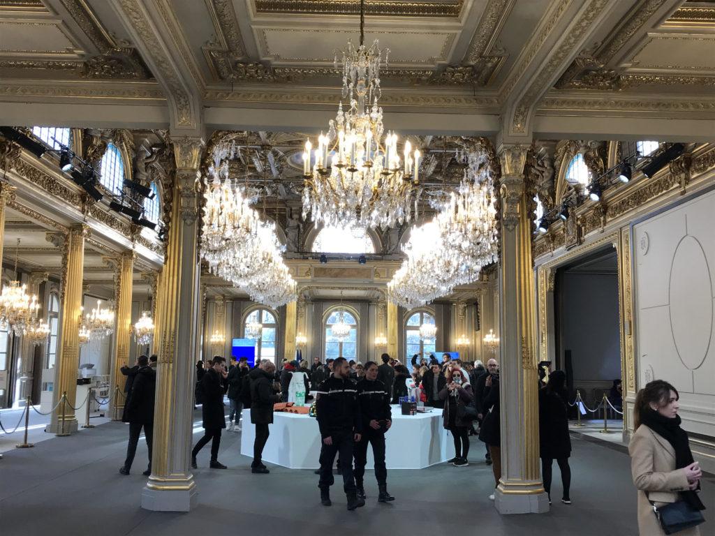 Hall d'accueil de l'exposition Fabriqué en France