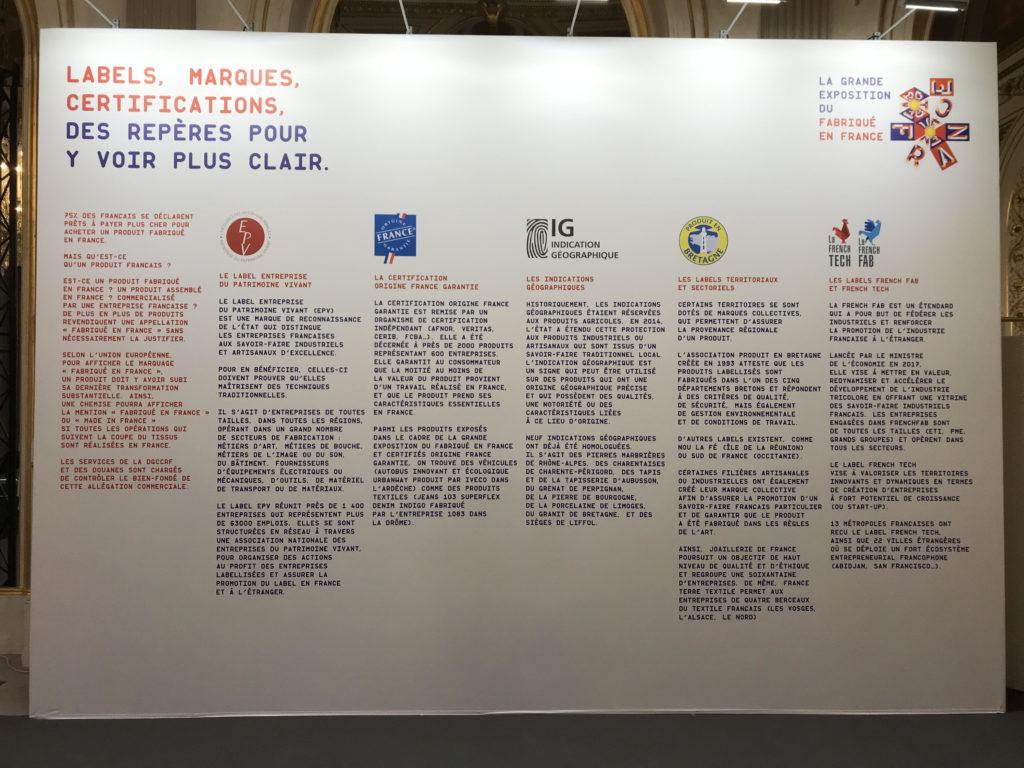 """Labels et certifications """"Fabriqué en France"""